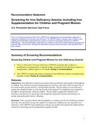Screening for Iron Deficiency Anemia - US Preventive Services Task ...