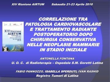 Correlazione tra patologia cardiovascolare e trattamento radiante ...