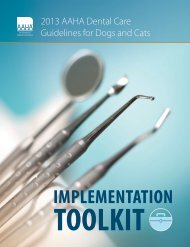 Dental Care Guidelines Toolkit - American Animal Hospital ...