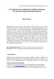 A Comparison of Volatility Estimators for - Journal of Economic and ...