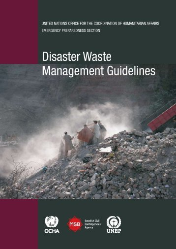Disaster Waste Management Guidelines - PreventionWeb