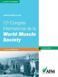 World Muscle Society - Institut de Myologie