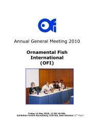 Annual General Meeting 2010 Ornamental Fish International (OFI)