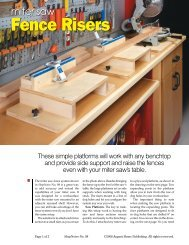 Miter Saw Fence Risers - ShopNotes