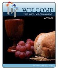 June 3, 2012 - Westminster Presbyterian Church