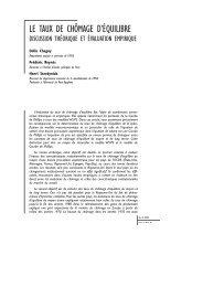 Le taux de chômage d'équilibre -Discussion théorique et ... - OFCE