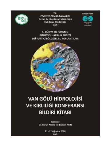 van gölü hidrolojisi ve kirliliği konferansı bildiri kitabı
