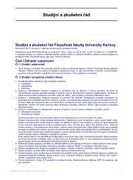 Studijní a zkušební řád Filozofické fakulty ... - Filozofická fakulta