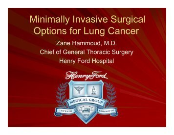 Minimally Invasive Surgical Options for Lung Cancer