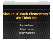 Download presentation - The UTeach Institute