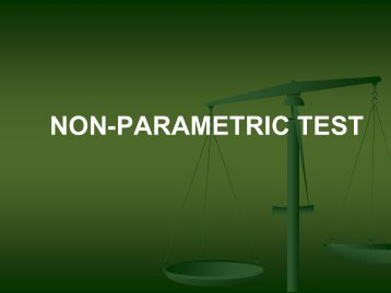 Non Parametric Test - The INCLEN Trust