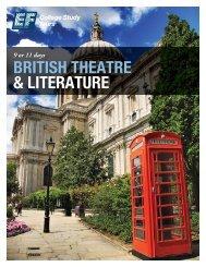 BRITISH THEATRE & LITERATURE - EF College Study Tours