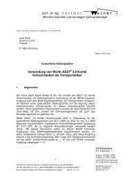 ASSY Transportankersystem Gutachterliche Stellungnahme ... - Würth