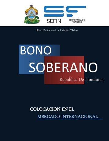 Bono Soberano - Secretaría de Finanzas