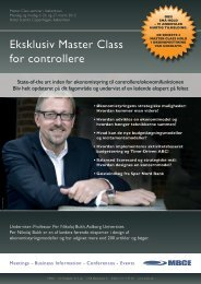 Eksklusiv Master Class for controllere - MBCE