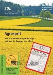 Agrosprit - SOL - Menschen für Solidarität, Ökologie und Lebensstil