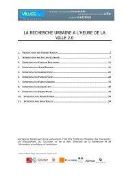 LA RECHERCHE URBAINE A L'HEURE DE LA VILLE 2.0 - Index of