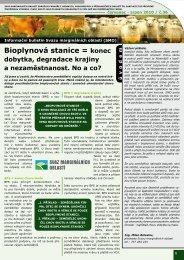 Informační bulletin Svazu marginálních oblastí (SMO)
