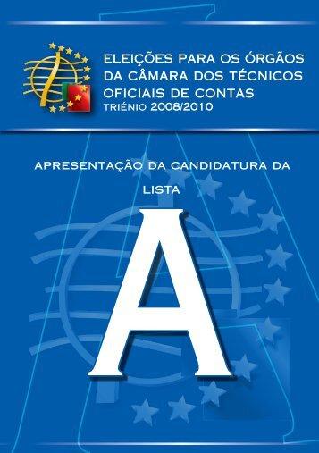 Lista A - Ordem dos Técnicos Oficiais de Contas
