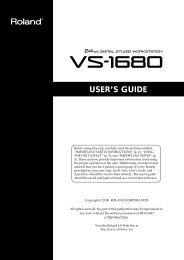 VS-1680 User Guide (PDF) - Roland UK