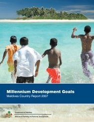 MDGs Country Report Maldives 2007 - Department of National ...