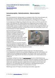 Universitätsklinik für Nuklearmedizin Semesterprojekte ... - microLab