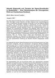 Aktuelle Diagnostik und Therapie der Sigma-Divertikulitis in ...