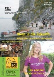 Wege in die Zukunft: - SOL - Menschen für Solidarität, Ökologie und ...