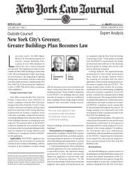 New York City's Greener, Greater Buildings Plan ... - Baruch College