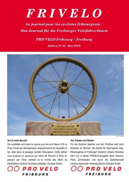 F R I V E L O - PRO VELO Fribourg / Freiburg