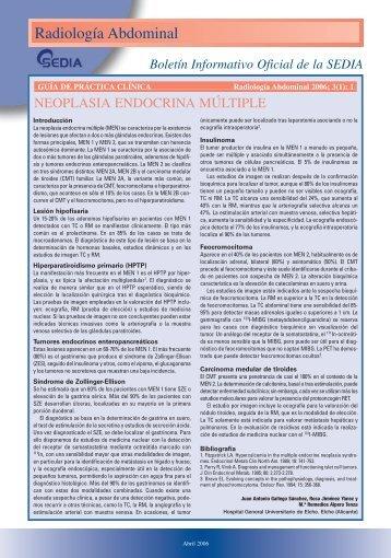 Número 1, Abril 2006 - SEDIA