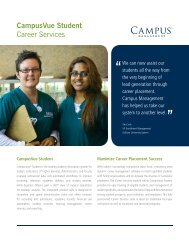 CampusVue Student Career Services - Campus Management Corp