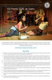 Premio SGAE Teatro - Fundación Autor