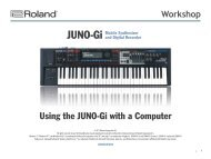 JUNOGiWS06—Using the JUNO-Gi with a Computer - Roland UK