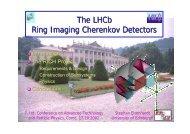 The LHCb Ring Imaging Cherenkov Detectors - Villa Olmo