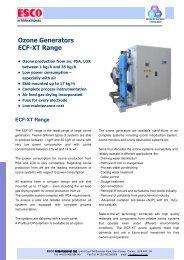Industrial Ozone Generators – ECF - Esco International