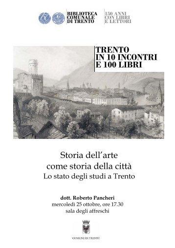 Storia dell'arte come storia della città TRENTO IN 10 INCONTRI E ...