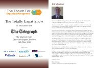 The Totally Expat Show - Forum for Expatriate Management