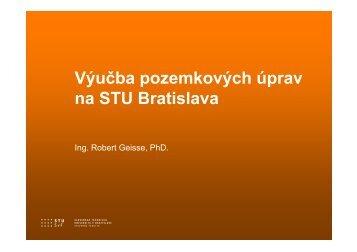 Výučba pozemkových úprav na STU Bratislava
