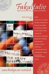 175jahre - Theologische Fakultät - Universität Rostock