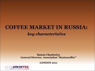 MARKET STRUCTURE - International Coffee Organization