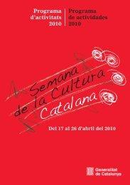 Programa de la Setmana de la Cultura Catalana a Madrid - Liceus