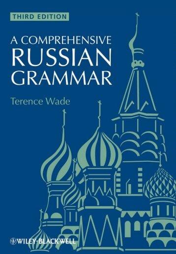 A Comprehensive Russian Grammar