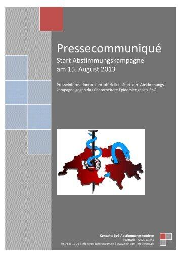 Abstimmungskampagne Epidemiengesetz EpG 15.8.2013