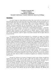 Capitolo Generale 2012 Giorno di Ritiro Comunione e Solidarietà ...