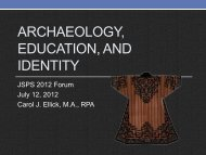 Archaeology, Education, and Identity