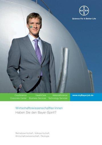 Wirtschaftswissenschaftler/innen Haben Sie den ... - Mybayerjob.de