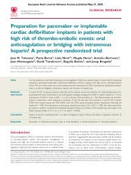Preparation for pacemaker or implantable cardiac defibrillator ...