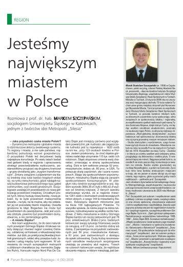 Jesteśmy największym miastem w Polsce - śląska izba budownictwa