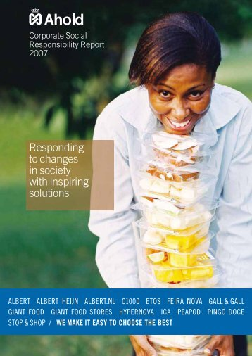 Corporate Social Responsibility Report - Ahold